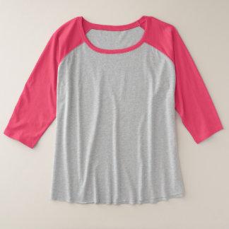 O Mais-Size das mulheres 3/4 de t-shirt do Raglan