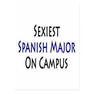 O major espanhol o mais sexy no terreno cartao postal