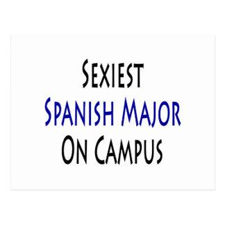 O major espanhol o mais sexy no terreno cartão postal