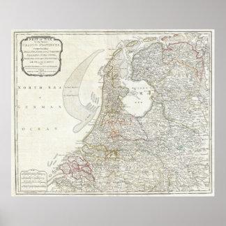 O mapa de Holland 1794 - por Laurie e talha Pôster