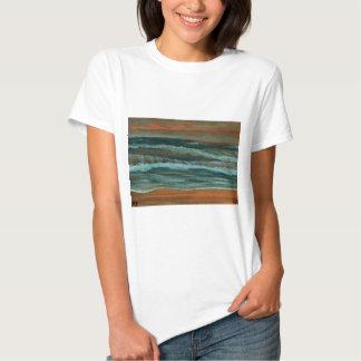 O mar clássico dos presentes da decoração da praia camiseta