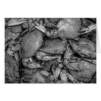 """O """"mar Crabs"""" o cartão"""