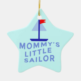O marinheiro pequeno da mamã ornamento de cerâmica estrela
