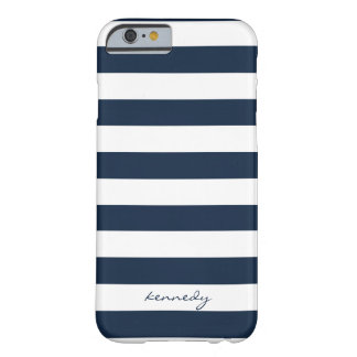O marinho listra a caixa personalizada teste capa iPhone 6 barely there
