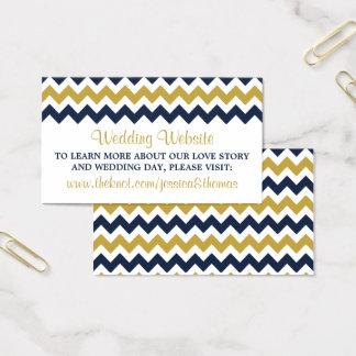 O marinho & o ouro modernos da coleção do cartão de visitas