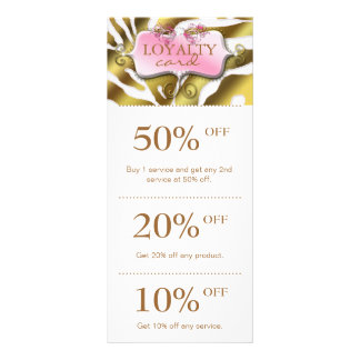 O marketing da jóia carda o salão de beleza cor-de 10.16 x 22.86cm panfleto