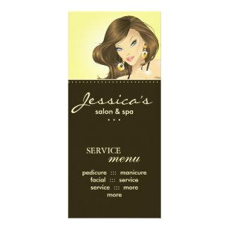 O marketing do salão de beleza carda o amarelo bon 10.16 x 22.86cm panfleto