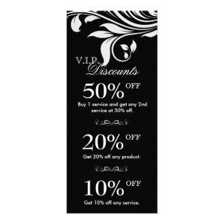 O marketing do salão de beleza carda o branco pret 10.16 x 22.86cm panfleto
