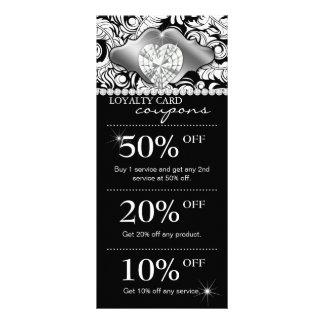 O marketing do salão de beleza das jóias carda a p 10.16 x 22.86cm panfleto