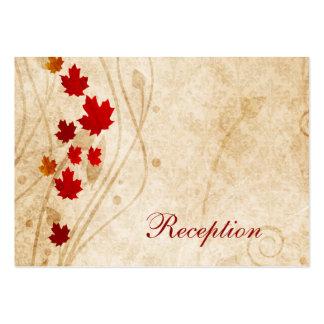 o marrom do outono da queda deixa cartões da recep modelo cartao de visita