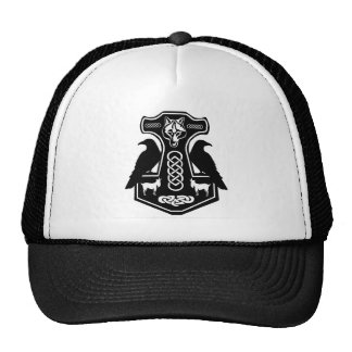 O martelo do Thor pagão com chapéu dos corvos Boné