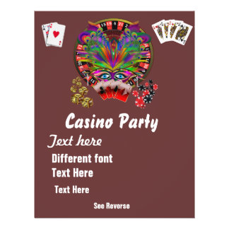O mascarada 1 dos temas do casino considera notas flyer 21.59 x 27.94cm