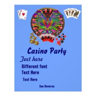 O mascarada 1 dos temas do casino considera notas panfleto personalizados