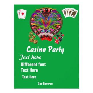 O mascarada 1 dos temas do casino considera notas modelo de panfleto