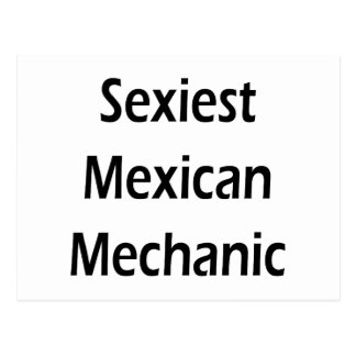 """O mecânico mexicano o mais """"sexy"""" cartões postais"""