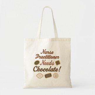 O médico da enfermeira precisa o chocolate bolsa tote