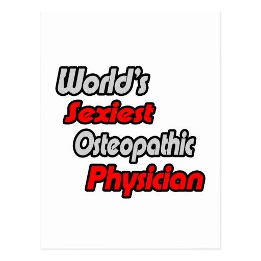"""O médico Osteopathic o mais """"sexy"""" do mundo Cartão Postal"""