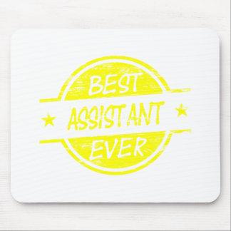 O melhor amarelo do assistente nunca mouse pad
