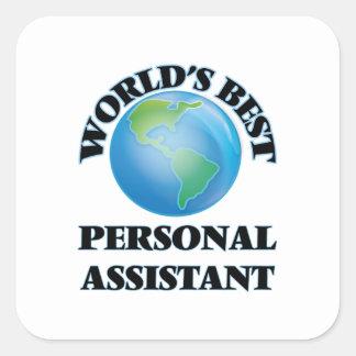 O melhor assistente pessoal do mundo adesivo quadrado