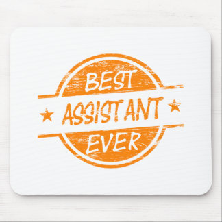 O melhor assistente sempre alaranjado mouse pads