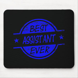 O melhor assistente sempre azul mousepad