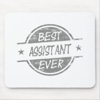 O melhor assistente sempre cinzento mouse pad