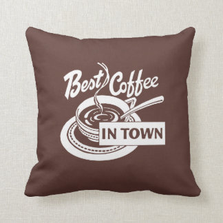 O melhor café escuro na cidade almofada