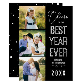 O melhor cartão com fotos sempre EDITÁVEL do ano
