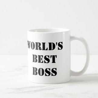 O melhor chefe do mundo do escritório caneca de café