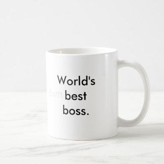 O melhor chefe do mundo (dum) caneca de café