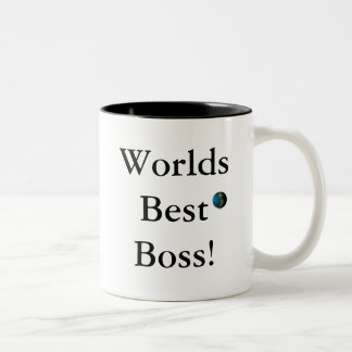 O melhor chefe dos mundos! caneca de café em dois tons