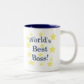 O melhor chefe dos mundos caneca dois tons