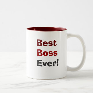 O melhor chefe nunca! caneca de café em dois tons