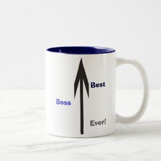 O melhor chefe nunca! caneca dois tons
