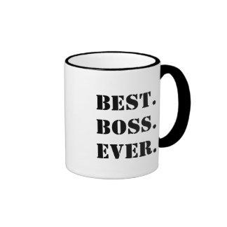 O melhor chefe sempre customizável caneca com contorno