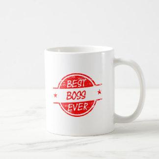 O melhor chefe sempre vermelho caneca de café