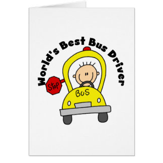 O melhor condutor de autocarro cartão comemorativo