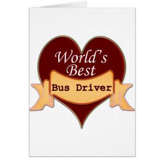 O melhor condutor de autocarro do mundo cartão