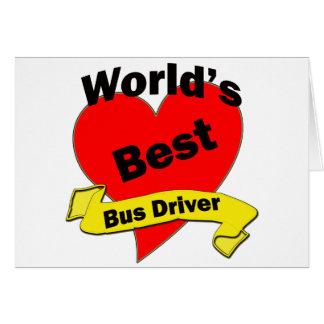 O melhor condutor de autocarro do mundo cartão comemorativo