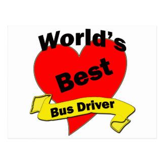 O melhor condutor de autocarro do mundo cartao postal