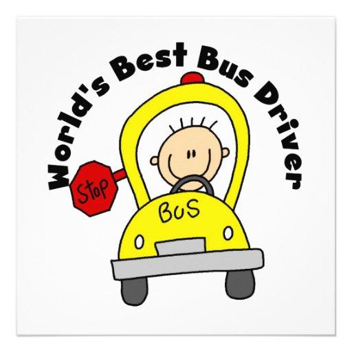 O melhor condutor de autocarro do mundo convites personalizado