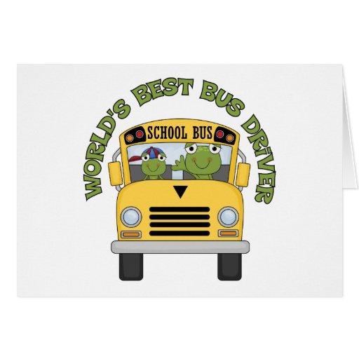 O melhor condutor de autocarro dos mundos cartao