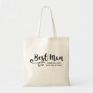 O melhor homem que Wedding a tipografia moderna Bolsa Tote