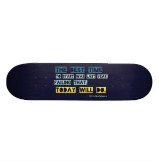 O melhor momento de começar shape de skate 18,1cm