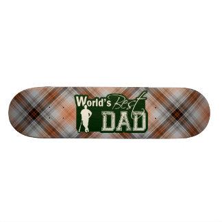 O melhor pai do mundo; Basebol Shape De Skate 18,7cm