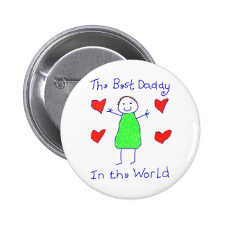 O melhor pai no mundo bóton redondo 5.08cm