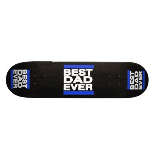 O melhor pai sempre azul skateboard