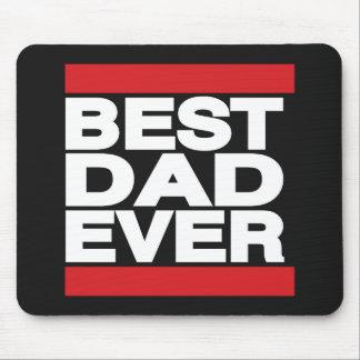 O melhor pai sempre vermelho mouse pad