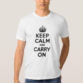 O melhor preço mantem a calma e continua o preto t-shirts