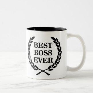 O melhor prêmio do chefe nunca caneca dois tons